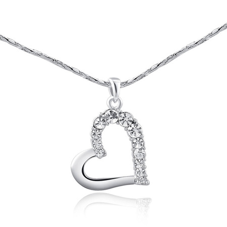 Persistent Love Heart Pendant - White