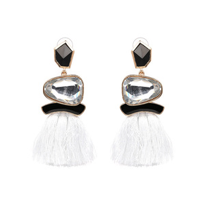 Ethical Style White Tassel Earrings