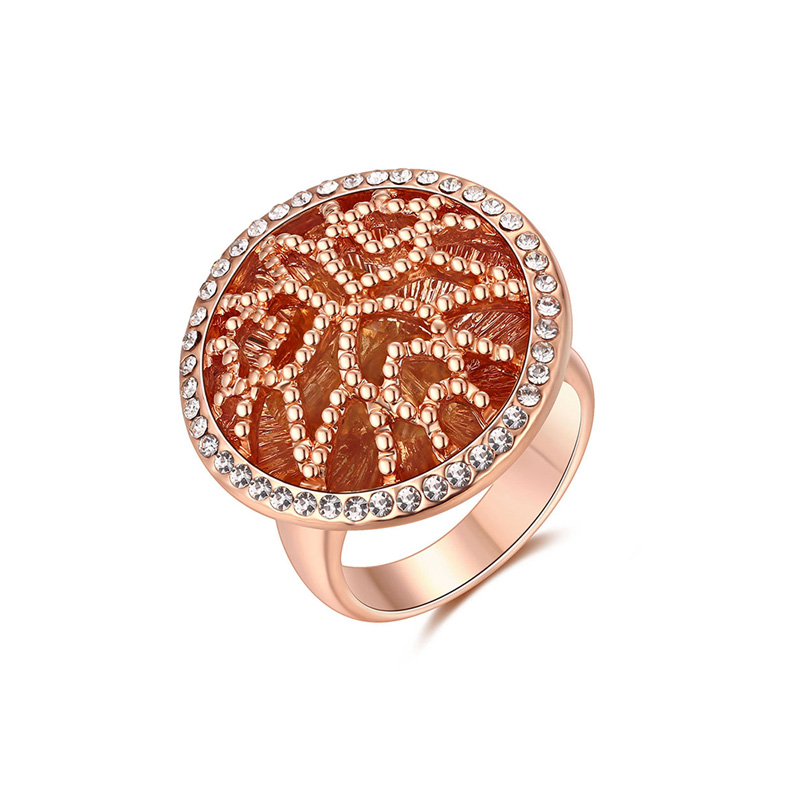 Raised Pattern Rose Gold Ring