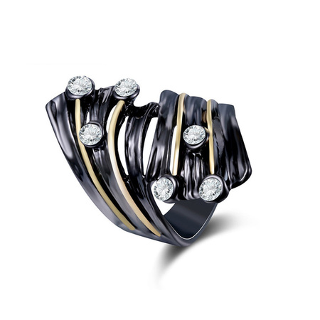 Two-Tone Spiral Ring