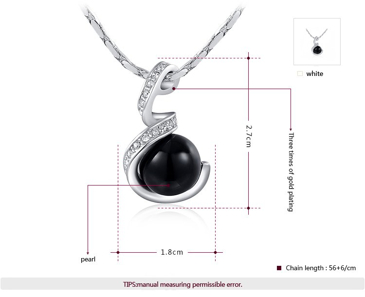White Gold Black Pearl Set