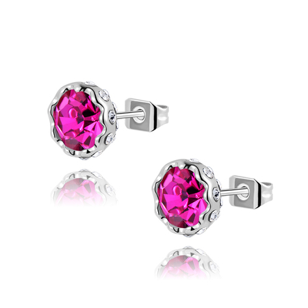 Saussurea Ruby Stud Earrings